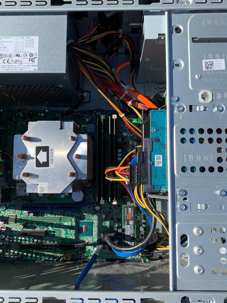 Image of Samsung EVO 860 Installed in Dell XPS 8900