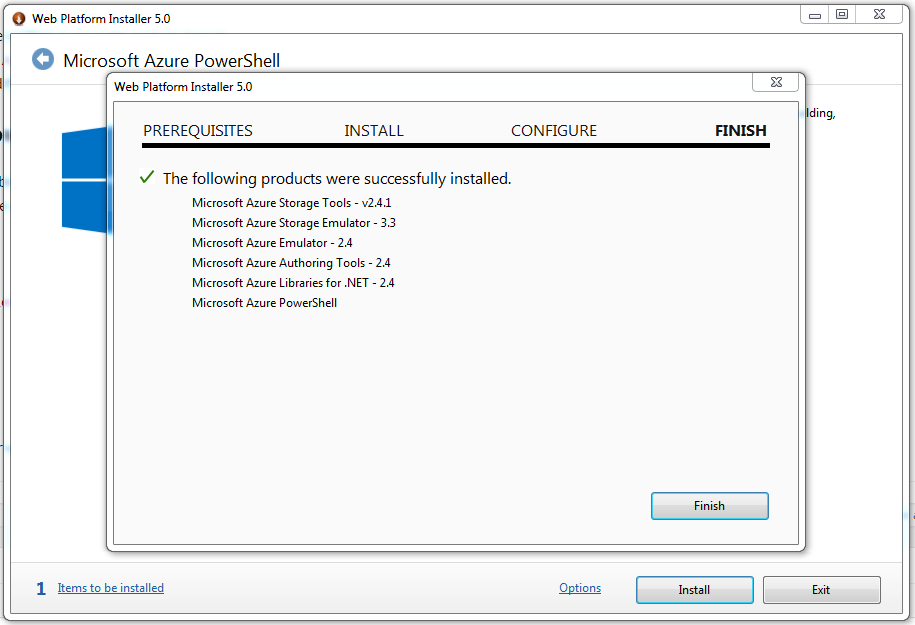 Installation of Azure Powershell Modules using the Web Platform Installer
