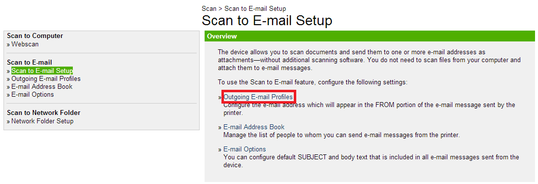 Setting up an Outgoing E-mail profile on the Officejet 8600 to work with Office 365