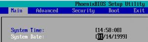 Image showing the virtual BIOS of a SCO Openserver Virtual Machine