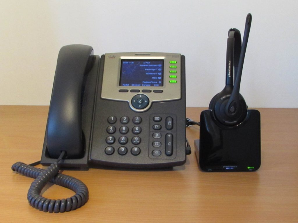 Cisco SPA525G with Plantronics CS510 Wireless Headset