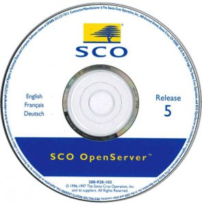 Image of SCO Openserver 5.0.4 CD
