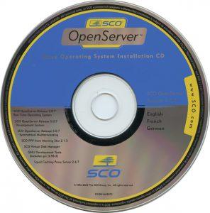 SCO Openserver 5.0.7 Installation ISO
