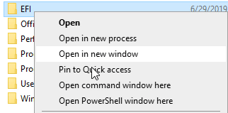 "Image showing how to shift and right click to get the ""command window here"" option in Windows 10"